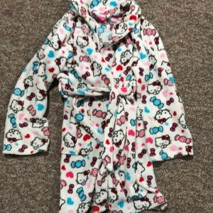 Girls fleece robe